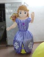 Cartoon purple woman Mascot Costume anime cosplay themed fancy dress costume Free shipping