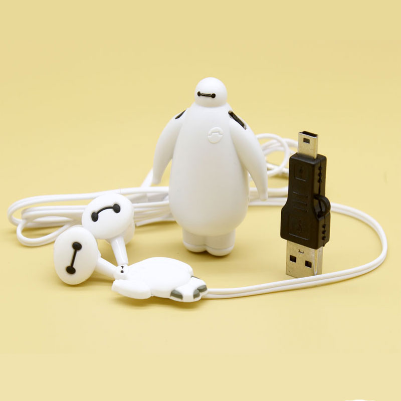 High Quality Mini  MP3 Music Player Baymax Mp3 Players  With Accessories Baymax Earphone Usb