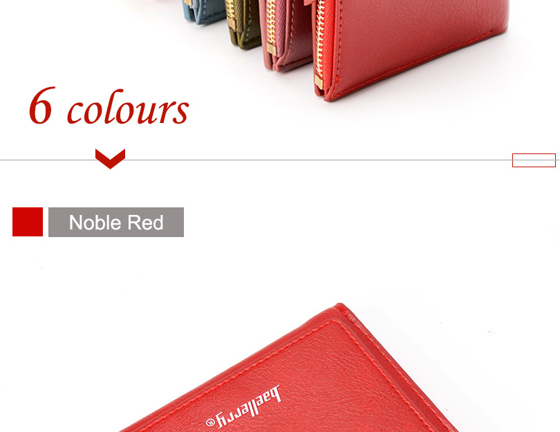 Women Wallet Small Purse Female Wallet Credit card slots zipper coin pocket Leather Wallet lovely pink one size 18