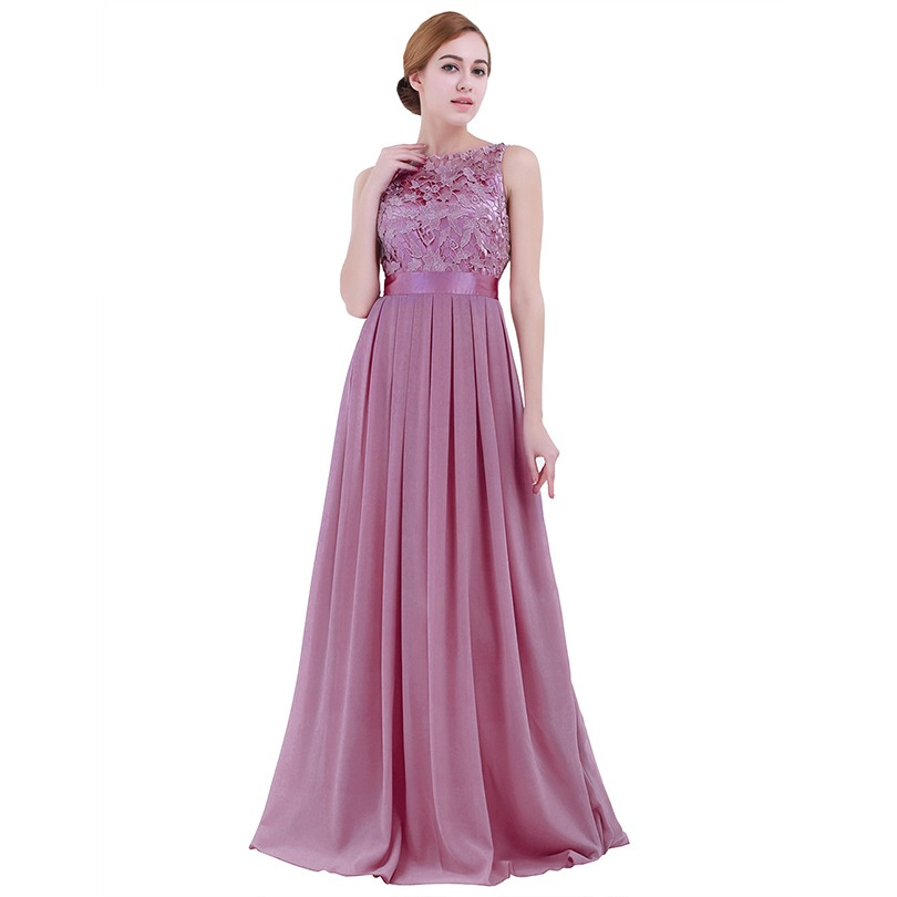 3d36653070f TiaoBug Lace Bridesmaid Dresses Long 2017 New Designer Chiffon Beach Garden Wedding  Party Formal Junior Women Ladies Tulle Dress