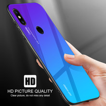 Gradient Case Pocophone F1 Tempered Glass Cover for Xiaomi Mi 8 SE Explorer Mi8 Pro Mi6 6 6X A2 Lite Pocofone Little F 1 Housing(China)