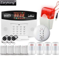 Hot Selling Free Shipping Wholesale Wireless PSTN GSM Alarm System 433MHz Russia Brizal Home Burglar Security