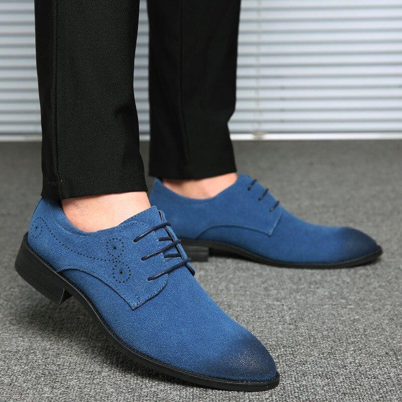 2019 New Big Size Men   Leather   Shoes Lace-Up Business Dress Shoes Men Fashion Flat Shoes For Male Zapatillas Hombre Size 38-48