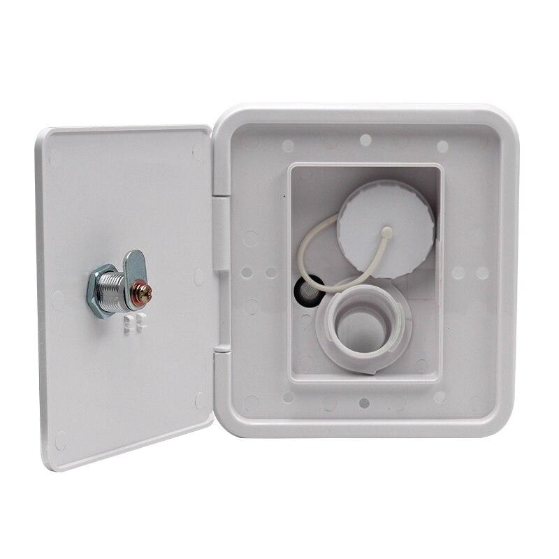 Universal controllable White Gravity Water Hatch/water intake Fill Dish Lock Keys RV Trailer Camper(China)