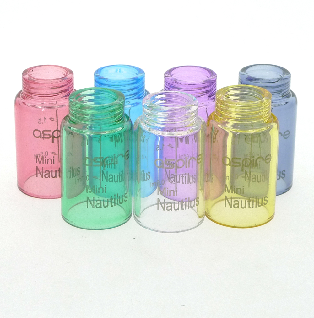 Replacement Glass Tube Cap 2ML Tank For Nautilus Mini Atomizer 18mm Diameter