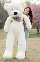 Самый большой игрушечный медведь плюшевые игрушки милые большие глаза лук мягкая игрушка медведь мишки подарок на день рождения белый 200 см