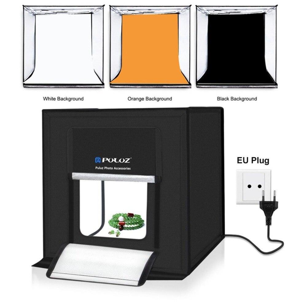 PULUZ Bag Backdrops Light Photography-Box Mini Portable LED 5500LM 60pcs 3-Color Tent-Set