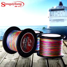 Sougayilang No.0.4-8 500M Braided Fishing Line Colorful Multifilament PE Braided Wire 12-70LB Super Strong Fishing Braided Lines
