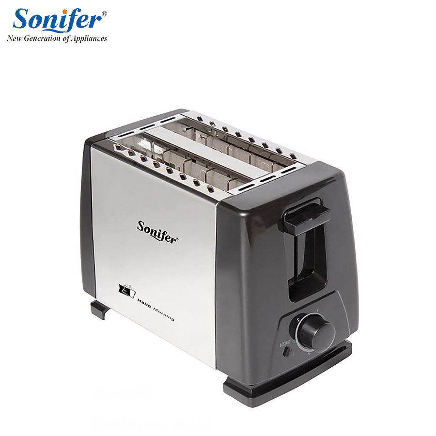 2 Slices Stainless steel toaster Automatic Fast heating bread toaster Household Breakfast maker Sonifer bread toaster baking breakfast machine abs stainless steel 2 slices slots bread maker wst 918 household automatic 220v 50hz 700w