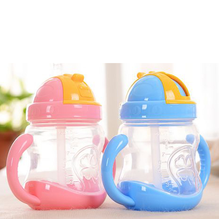 280ml baby straw cups kid water bottle handle children - Cups and kids ...