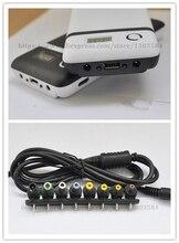 חדש כוח נייד אספקת שש 18650 15600mah סוללה מטען כוח בנק + 8pcs מחבר F מחשב נייד מחברת iphone ספינה חינם