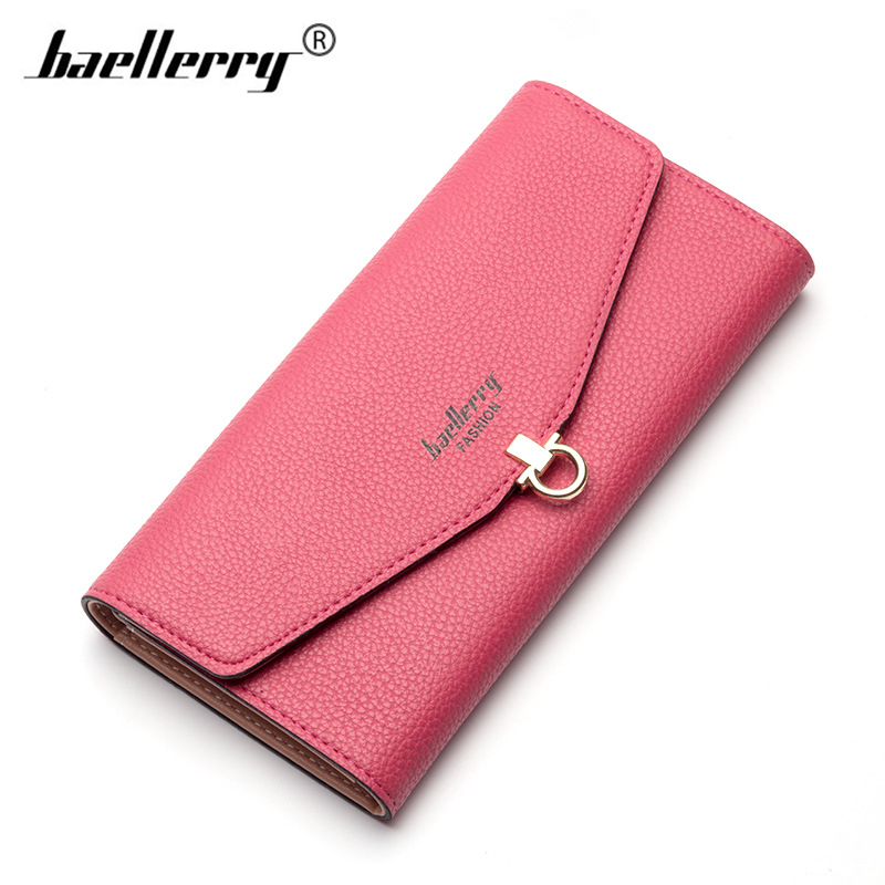 Baellerry 2017 New Fashion Envelope Women Candy Color Long Hasp Wallets Pu Leather Organ ...