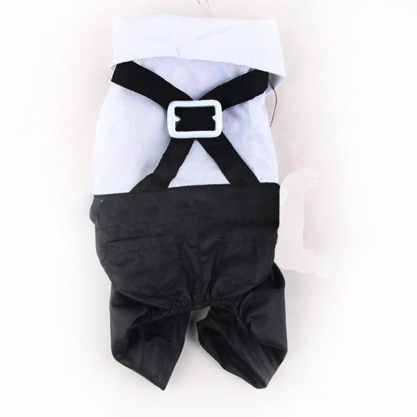 Pet Dogs Cat Clothing Prince Tuxedo Bow Tie Suit Puppy Costume Jumpsuit Coat Clothes Apparels