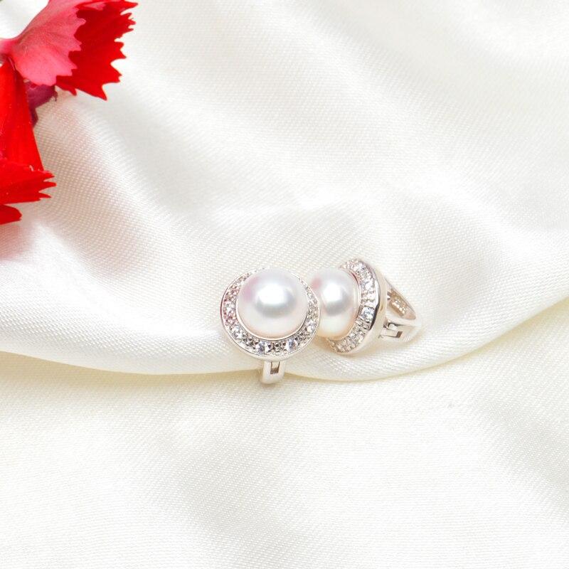 ASHIQI ekte naturlig ferskvann perle stud øredobber for kvinner - Fine smykker - Bilde 2