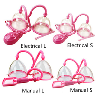 Breast Enlargement Pump Vibrator Massager Electrical Manual Former Cup Vacuum Suction Cup Clitoris Massager Sex Toys for Women