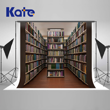 Kate Retro School Library Study Bookshelf Backgrounds For Photo Studio Scene Children Photography Background Photographic