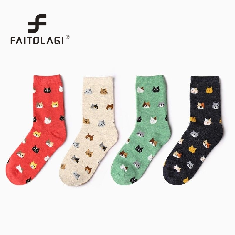 Socks Radient Fouretaw 1 Pair High Quality Fashion Japanese Style Womens Sakura Kimono Design Socks Casual Cotton Famous Street Socks Women's Socks & Hosiery