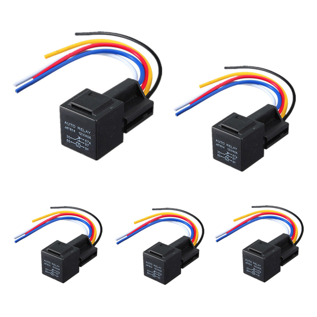 AUTO 5pcs 12V 30/40 A Amp Car Auto Relay With Wiring Harness Socket New Technology In Automotive Wiring Harness on car harness, automotive mounting brackets, automotive vacuum pump, automotive starter, automotive bumpers, automotive transmission, cable harness, automotive coil, automotive wheels, automotive voltage regulator, automotive gaskets, automotive electrical, automotive alternator, automotive headlights, automotive computer, automotive brakes, wire harness, automotive ecu, automotive hoses, automotive switch,