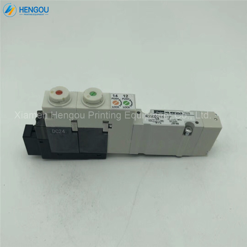 1 pièce A05GD25X-1P Komori pièces 3Z0-8102-670 d'origine komori électrovanne komori machine d'impression valve DC24V