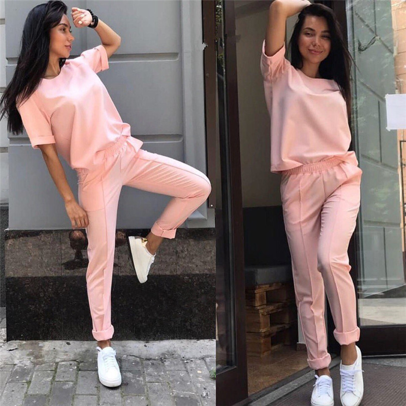Fashion casual suit 2018 summer wear short sleeved jacket, western style, Nine minutes of pants, two sets of small pants 11