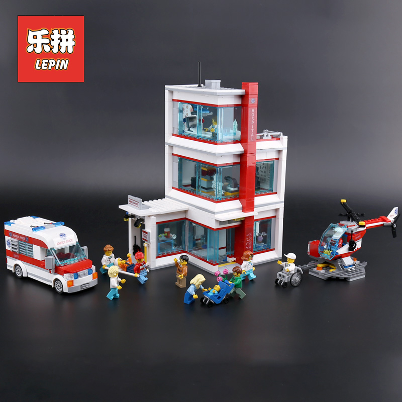 Lepin 02113 City Hospital Set Ambulance Model Building Blocks Bricks Compatible Legoings 60204 Kits Kids Funny Toys for Children beibehang papel de parede 3d stereo wall paper imitation brick pattern clothing behang store bedroom luxury adhesive wallpaper