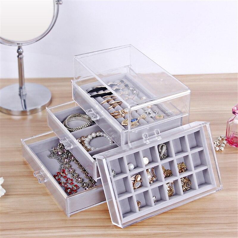 240 135 195mm jewelry display tray Jewelry Organizer Case Jewellery Box Holder Stand Jewlery Box Bracelet