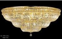 Phube Освещение большой фойе прихожей кристалл потолочный светильник французский империи Золотой Кристалл заподлицо Свет Освещение Бесплат