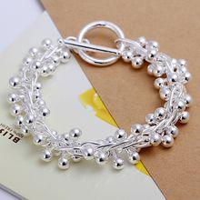 Fina del verano del estilo de plata chapada pulsera 925-sterling-silver joyería bijouterie cadena de la uva pulseras para mujeres hombres SB019