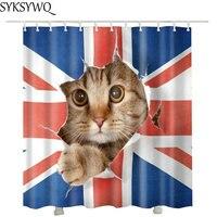 Милый питомец кот принять ванну Душ шторы s падение покупки Творческий водостойкий полиэстер ткань душ ванная комната
