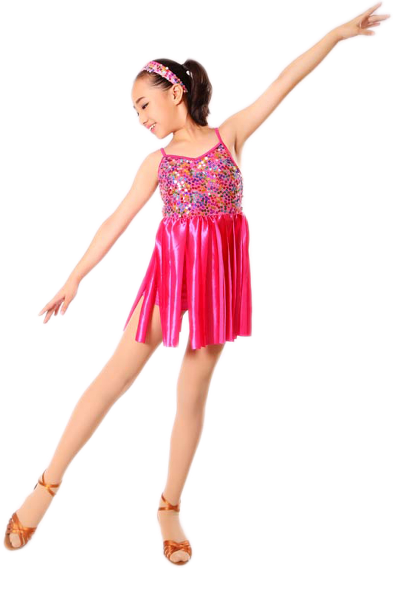 Kids Salsa Dresses Sequin Latin Dance Dress for Girls Fringe Dancing Dancewear Stage Samba Junior Ballroom Standart Costumes
