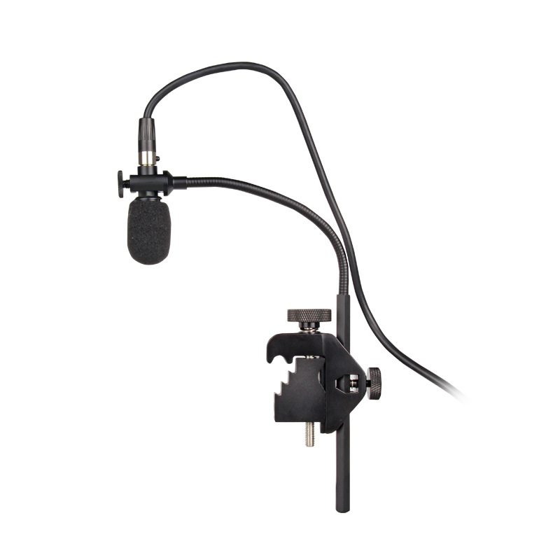 G-MARK Saxophone Microphone with pre-amp condenser Musical instrument microphone stage performance band drum Snare drum tom drum new arrival screw nut plug saxophone trumpet erhu musical woodwind instrument microphone prevent mechanical noise for helicopter