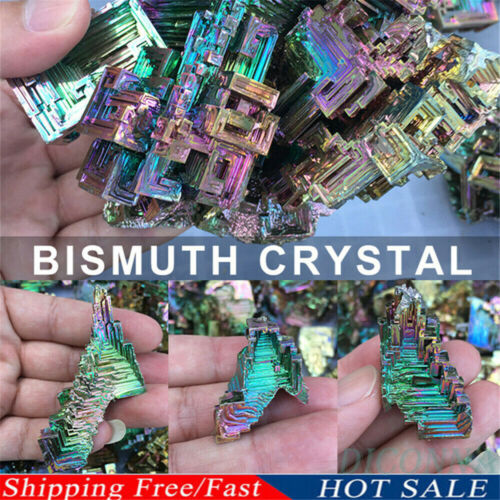 Rainbow Titanium Bismuth Specimen Mineral Gemstone Crystal Quartz Stone Decor
