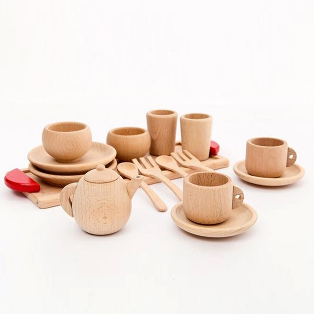 Letu0027s Make Wooden Montessori toy Baby Toys Baby Gift Set wooden cutlery Montessori Inspired Toddler Pretend  sc 1 st  AliExpress.com & Letu0027s Make Wooden Montessori toy Baby Toys Baby Gift Set wooden ...