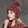 Kenmont Осень Зима Женщины Леди Теплый Earflap Цвета 100% Ручной Вязать Шапочки Hat Лыж Cap 1642