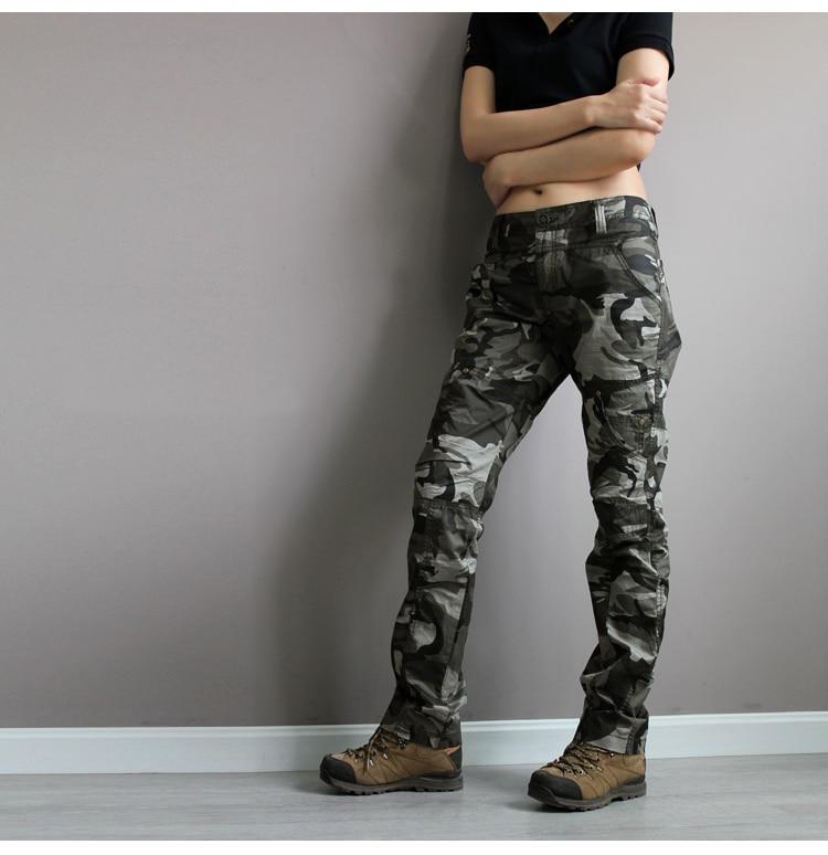 Sportwear jungle climb army fatigue camouflage cargo pants plus size 6xl denim femme jeans baggy pant