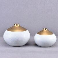 Керамика Позолоченные ваза интерьера гостиной ТВ шкаф украшения новых китайских мягкая мебель LU712146