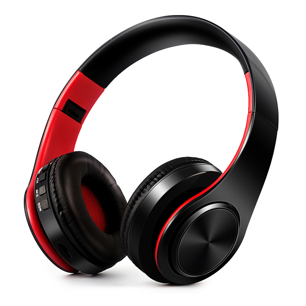 KuWFi Colourful Wireless Sports Headphone Foldable Bluetooth 4.0 Stereo Headset 3.5mm Wired With Mic For Iphone Xiaomi Computer