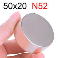 1 Pcs 50x20 Neodymium Magnet 50mm x 20mm N35 NdFeB Round Super Powerful Strong Permanent Magnetic imanes Disc 50x20
