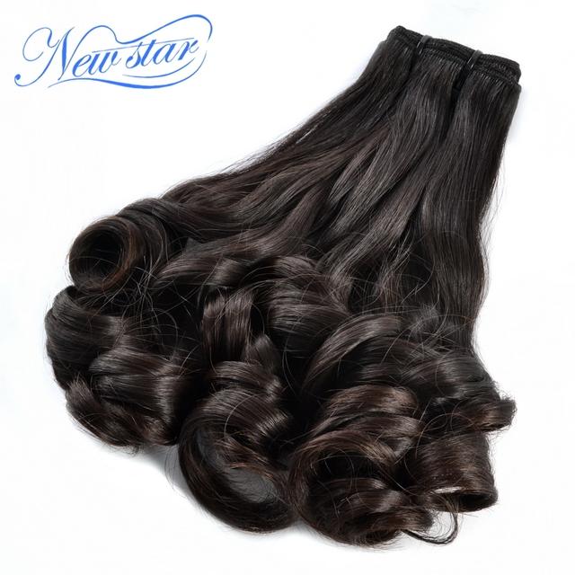 New star cabelo funmi virgem da extensão do cabelo 3 peças/lote saudável do cabelo feixes cor natural venda quente romance bouncy cheio de espessura
