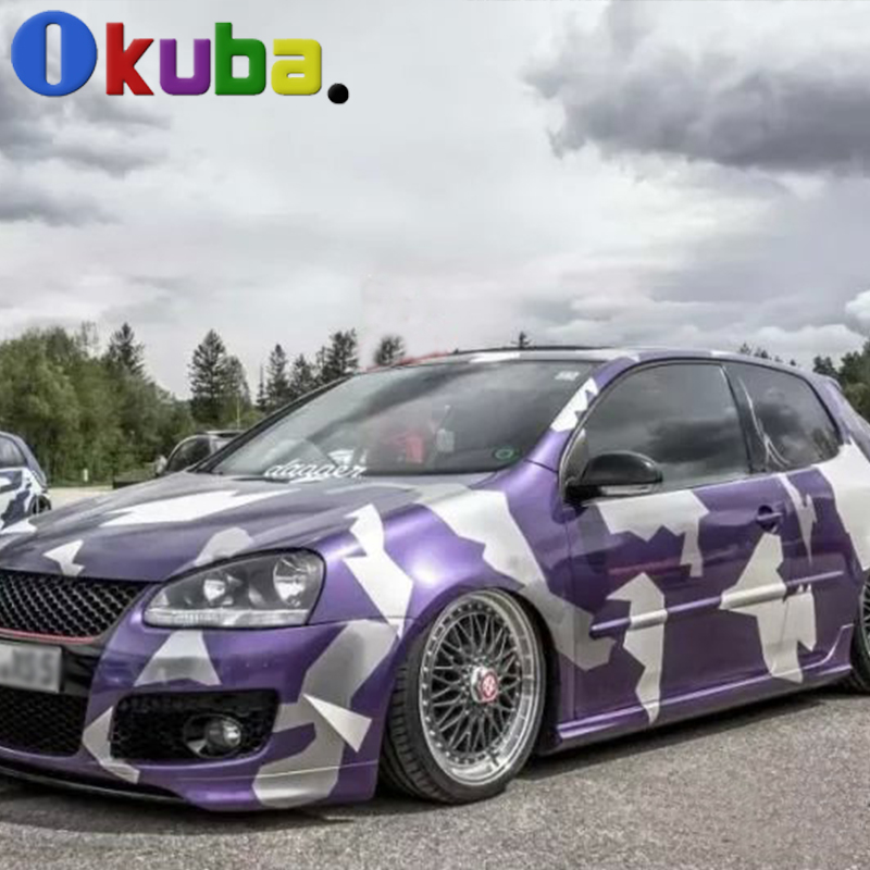 84277f33a2 Purple Artic Graphics Camo Vinyl Wrap Sheet Camouflage Film for Cars Camouflage  Vinyl 1.52 30m roll-in Car Stickers from Automobiles   Motorcycles on ...