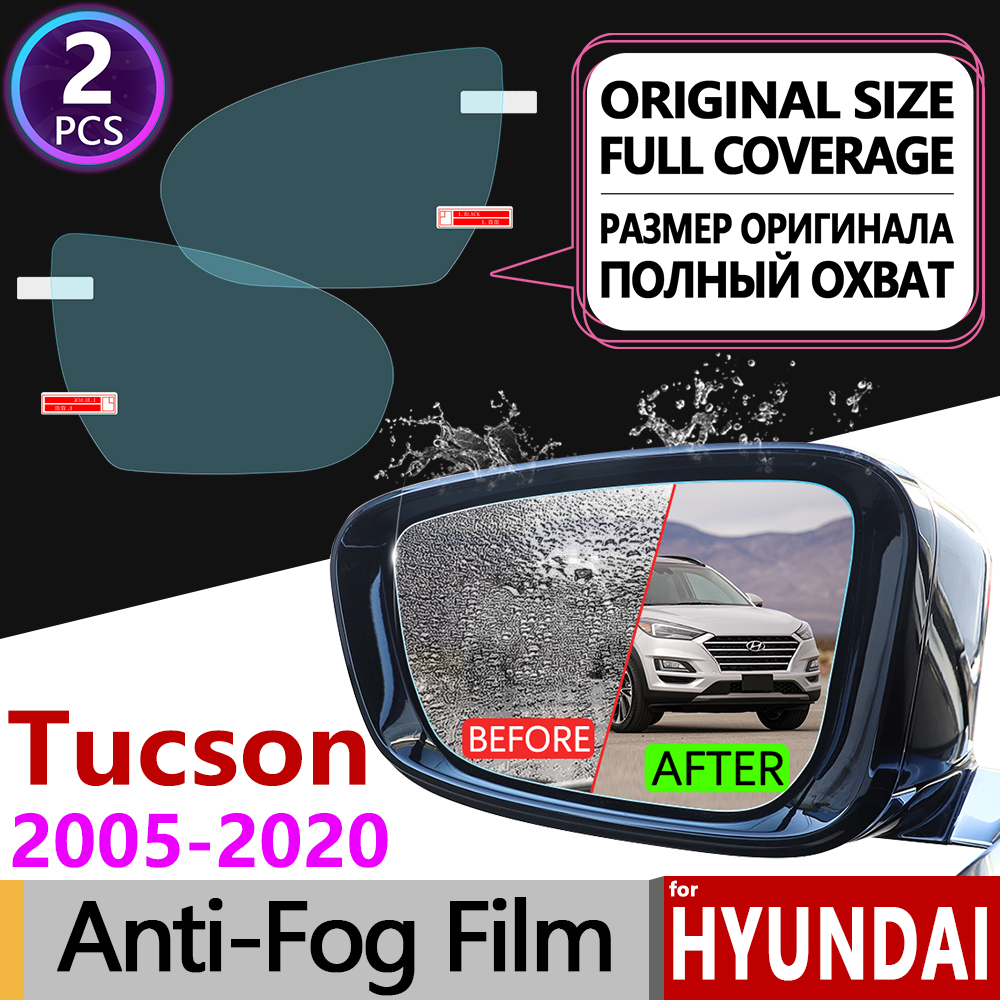 for <font><b>Hyundai</b></font> Tucson 2005~2019 <font><b>ix35</b></font> JM LM TL Full Cover Anti Fog Film Rearview Mirror <font><b>Accessories</b></font> 2008 2010 2015 2016 2017 2018 image