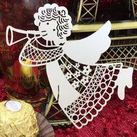 100 stks/partij Angel Papier Plaats Escorte Cup Kaart Wijnglas Kaart Voor Bruiloft Decoratie Tafel Decoratie Accessoires 5CD015