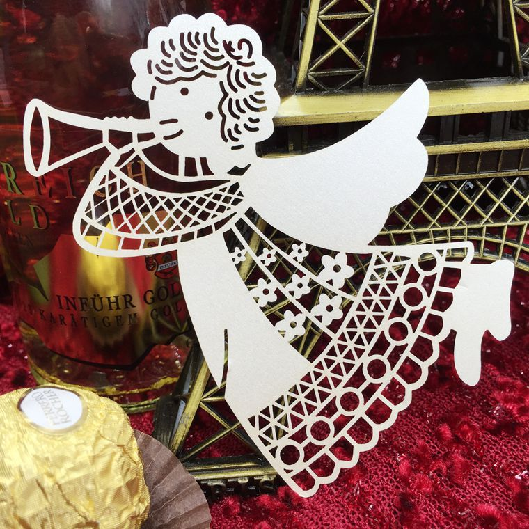 100pcs/lot Angel Paper Place Escort Card Cup Card Wine Glass Card For Wedding Decoration Table Decoration Accessories 5CD015 into a desert place paper only