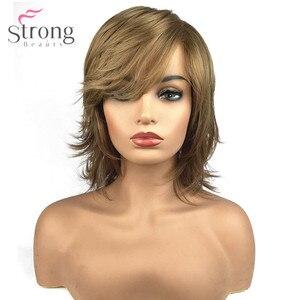 Image 1 - StrongBeauty delle Donne Parrucca Senza Cappuccio Sintetico Naturale Dei Capelli Biondi Medi Lisci Layered Haircut Parrucche Celebrità