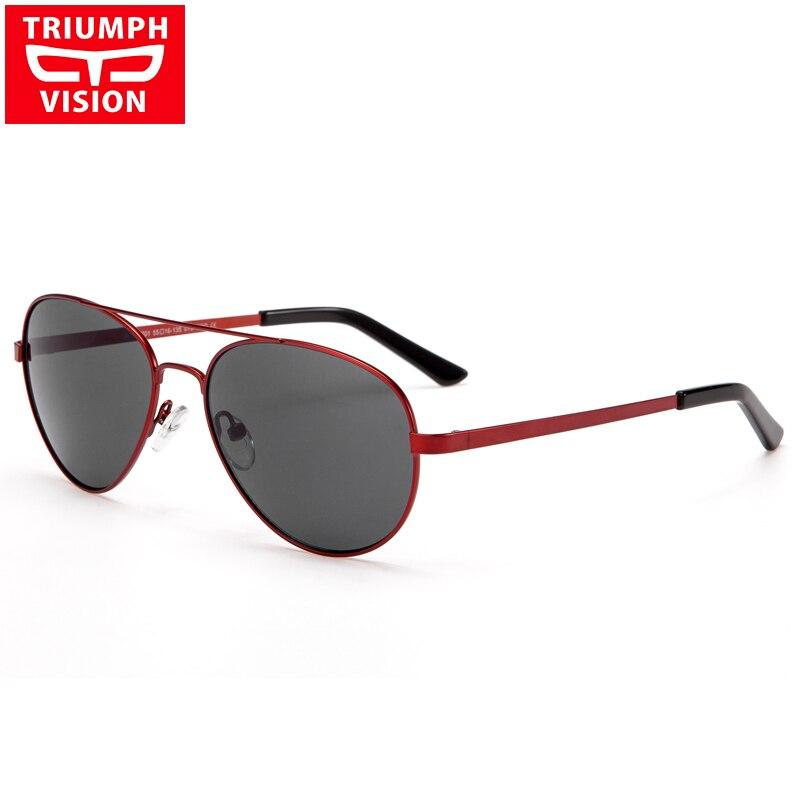 TRIONFO di VISIONE Miopia Occhiali Da Sole Delle Donne di Lusso Red Pilot Occhiali Da Vista Occhiali Da Sole di Alta Qualità In Metallo Oculos Fotocromatiche