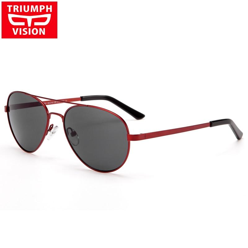 TRIUMPH VISION Myopie lunettes de Soleil Femmes De Luxe Rouge Pilote Lunettes Prescription Lunettes de Soleil de Haute Qualité En Métal Oculos Photochromiques