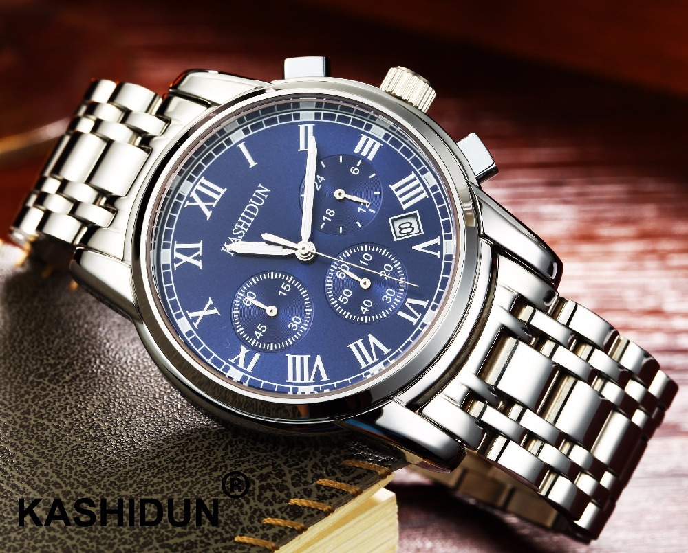 relogio masculino KASHIDUN Men font b Watches b font Top Brand Luxury Fashion Business Quartz font
