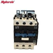 CJX2-5011 AC Contator 50A 3 Phase 3-Pole LC1 380V 220V 110V 36V 24V 3P+1NO+1NC 50/60Hz Din Rail Mounted AC Contator стоимость