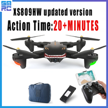 XS809 PFV RC Quadcopter Drone with HD Wide Angle Camera 720P XS809S long action time 20 minutes Hover Foldable Helicopter Toy