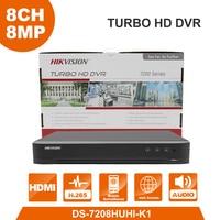 HIK Original 8MP DS 7208HUHI K1 5MP DS 7204HUHI K1 5in1 Video Recorder 5 in 1 for HDTVI/HDCVI/AHD/CVBS/IPC Analog Camera